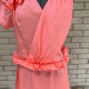 Bensoni Dresses - Bensoni Runway Pink Ruffle Dress